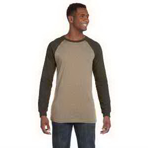 Bella + Canvas Men's Jersey Long-Sleeve Baseball T-shirt