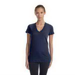 Ladies' Tri-blend Short Sleeve Deep V-neck T-Shirt