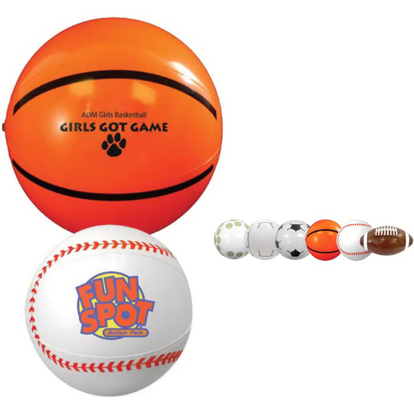 "9"" Sport Beach Ball-Baseball"