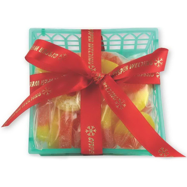 Candy Fruit Basket with Gummy Cherries