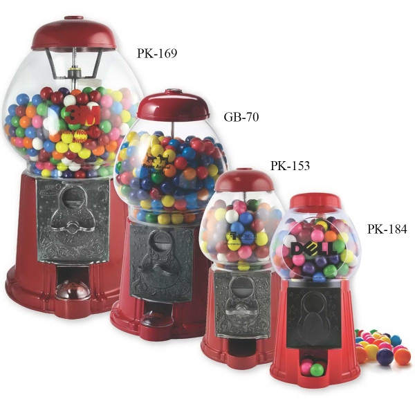 "15"" King Gumball Machine with gum"