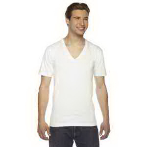 American Apparel Unisex Fine Jersey Short-Sleeve V-Neck