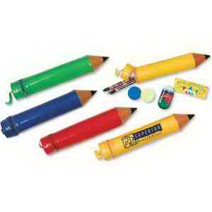 Deluxe Pencil Shaped Pencil Case-Imprinted