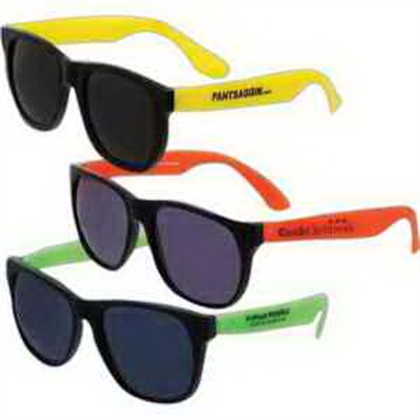 Economy Neon Sunglasses-Imprinted