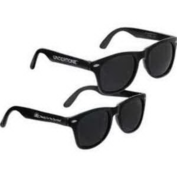 Economy Black Sunglasses-Imprinted
