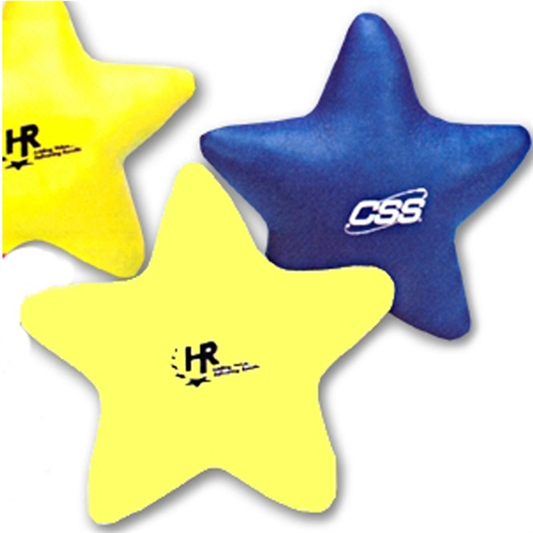 Soft, Leather Like Vinyl Stress Stars-Imprinted