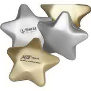 "3"" Metallic Foam Stress Stars-Imprinted"
