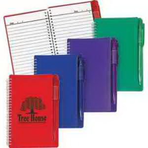 Spiral Notebook With Pen-Imprinted