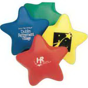 "3"" Foam Stress Stars-Imprinted"