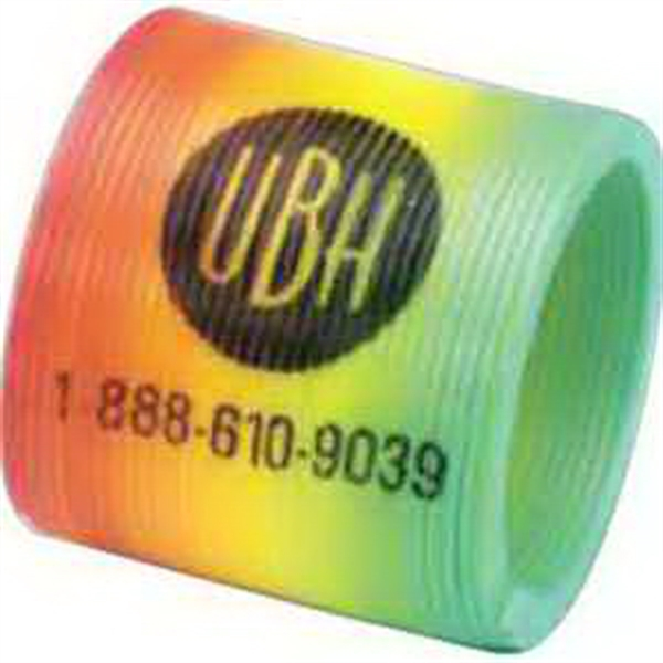 "Mini 1 1/4"" Round Rainbow Coil-Imprinted"
