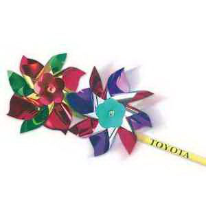 "7"" Metallic Pinwheels-Imprinted"