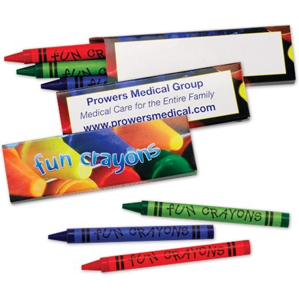 Three Pack of Premium Crayons-Imprinted
