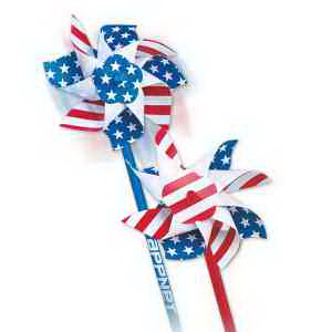 "4"" Patriotic Pinwheels-Imprinted"