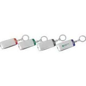 Silver Light-Up Key Chain-Imprinted