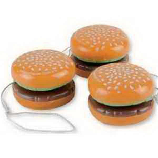 Plastic Hamburger Yo-Yo-Imprinted