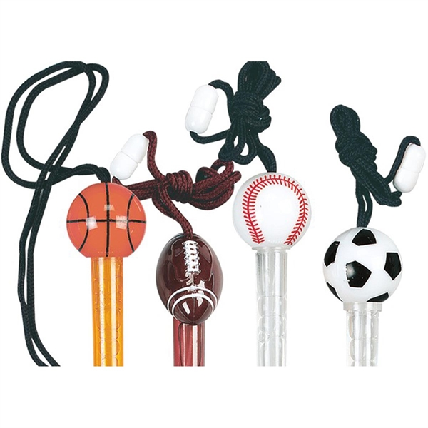 Sports Bubble Tube Necklaces-Imprinted