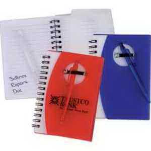 Pocket Spiral Notebook with Pen-Imprinted