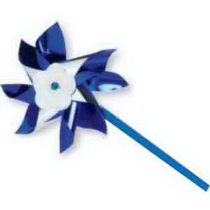 "4"" Blue and Silver Pinwheels-Imprinted"