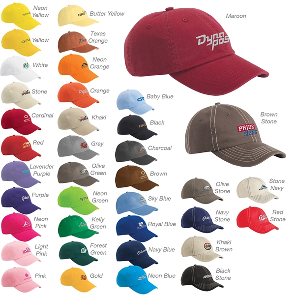 Valucap Bio-Washed Unstructured Cap