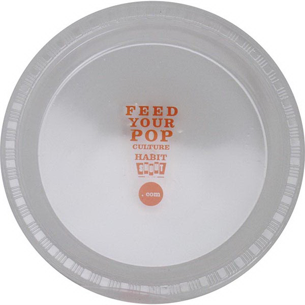 "7"" Round, Clear Plastic Plate"