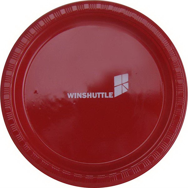 "7"" Round, Solid Color Plastic Plate"