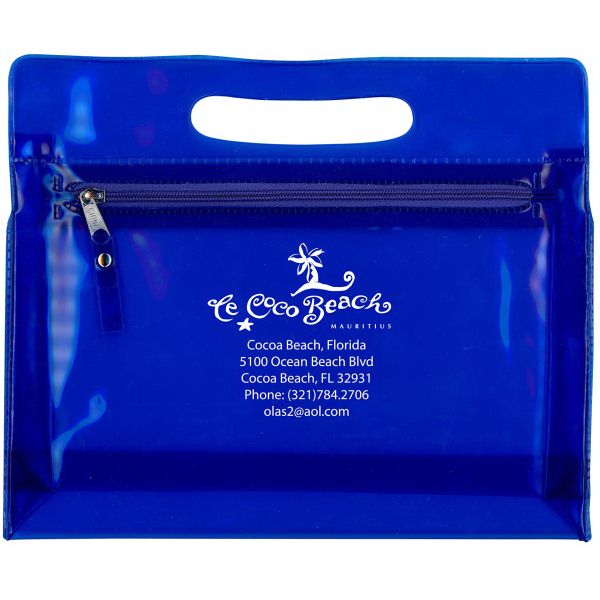 Translucent Airline Pouch / Cosmetic Case with handle