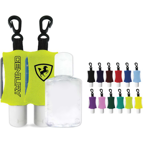 Antibacterial Hand Sanitizer Gel with Custom Leash/Sleeve