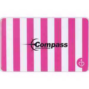 Slim Power Charger -  Pink and White Stripes