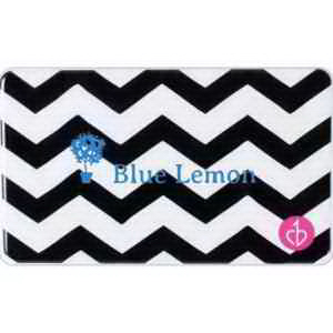 Slim Power Charger -  Black and White Chevron