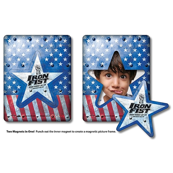 Magnet - Picture Frame Star Punch (3.5x4.5) - Outdoor Safe