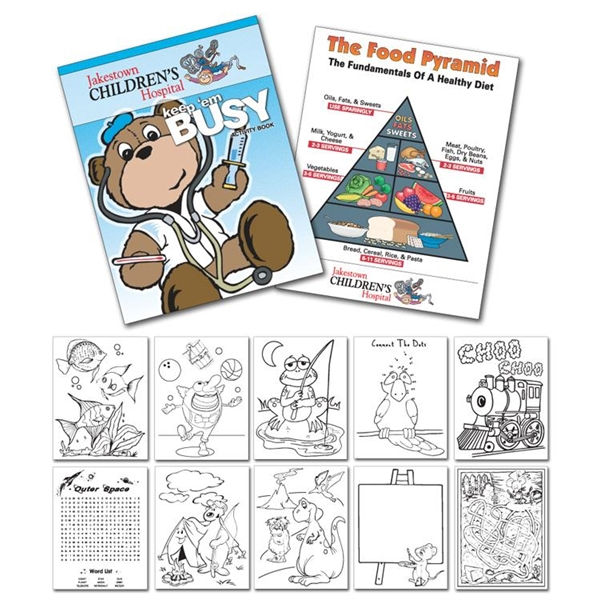 Activity Coloring Book - 8.5x11 - (12-Page Doctor)
