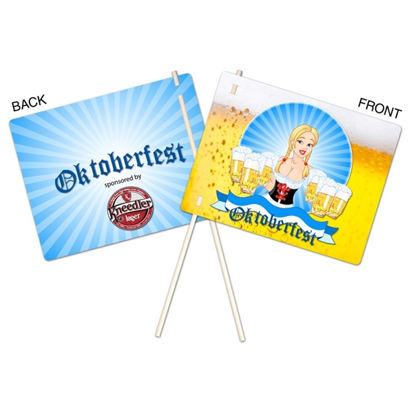 Flexible Plastic Flag - UV-Coated (1S) - 8.5x11 - 10 pt.