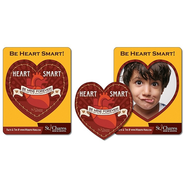 Health Magnet - Picture Frame Heart Punch (3.5x4.5) - 25 mil