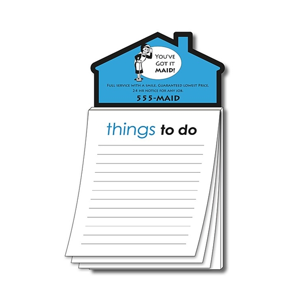 Magna-Pad House Shape Magnet - Stock Things To Do (50 Sheet)