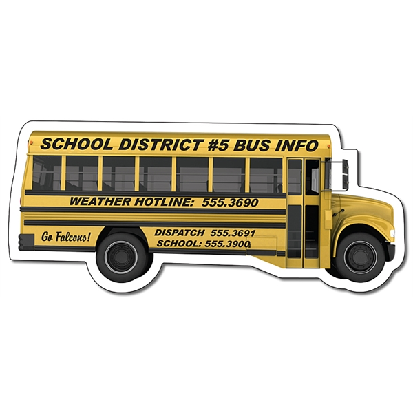 Magnet - School Bus Shape (4.88x2.1214) - 20 Mil.