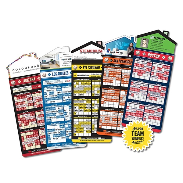 Magna-Card House Shape Magnet - Baseball Schedules (3.5 x 9)