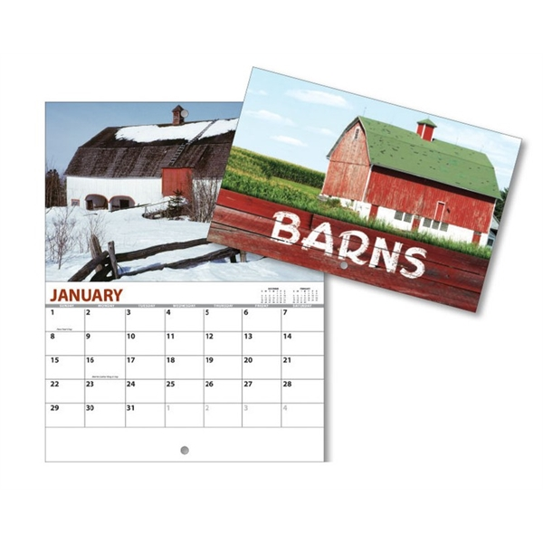 13 Month Mini Custom Photo Appointment Wall Calendar - BARNS