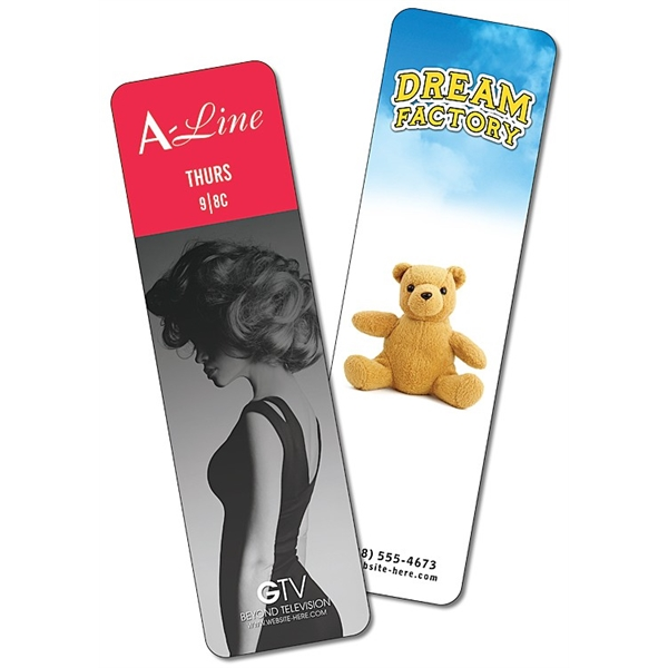 Plastic Bookmark - 2x7 UV-Coated (1S) - 10 pt.