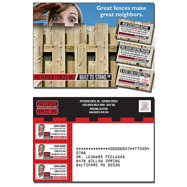 Laminated Postcard with Coupons (3 Count) - 5x3.5 - 14 pt.