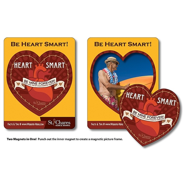 Magnet - Picture Frame Heart Punch (3.5x4.5) - 30 Mil.