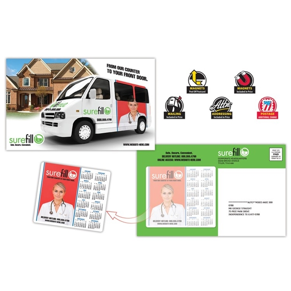 Delivery Magna-Peel Postcard (8.5x5.25) with 3.5x4 Magnet