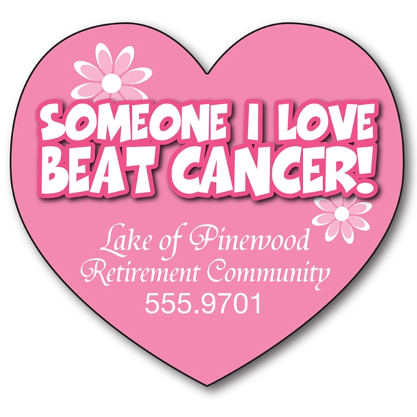 Awareness Magnet - Big Heart Shape (3.25x3) - 25 Mil.