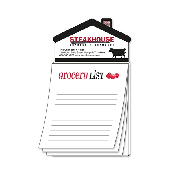 Magna-Pad House Shape Magnet - Stock Grocery List (50 Sheet)