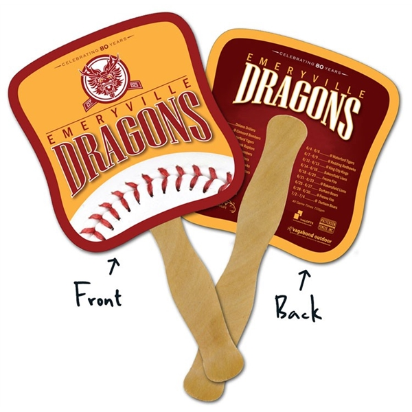 Mini Hand Fan - 5.25x5.5 Laminated - 14 pt.