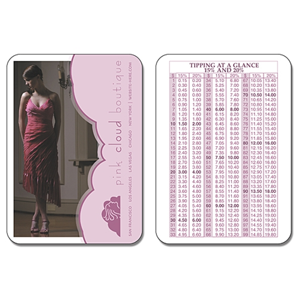 Oversize Laminated Wallet Card - 3.5x2.5 (2-Sided) - 14 pt.