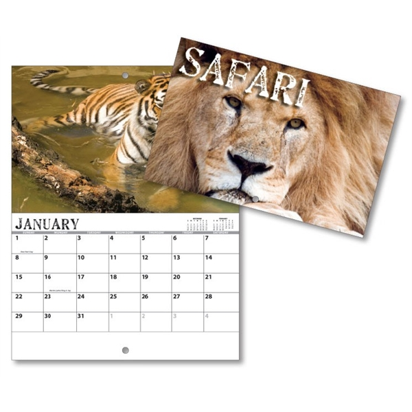 13 Month Mini Custom Photo Appointment Wall Calendar - SAFAR