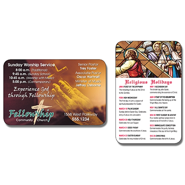 Religious Laminated Wallet Card - 3.5x2.25 (2-Sided) - 14 pt