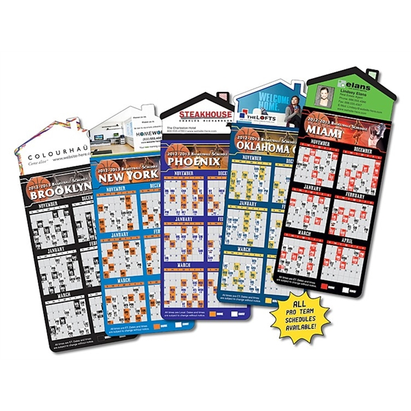 Magna-Card House Shape Magnet - Basketball Schedules (3.5x9)