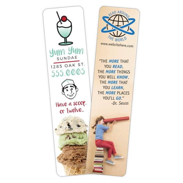 Plastic Bookmark - 1.5x6.25 Laminated - 14 pt.
