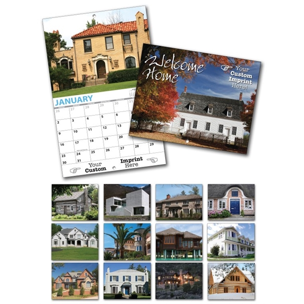 13 Month Custom Appointment Wall Calendar - WELCOME HOME